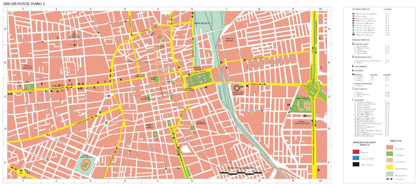 Mapa San Luis Potosí, San Luis Potosí, Mexico