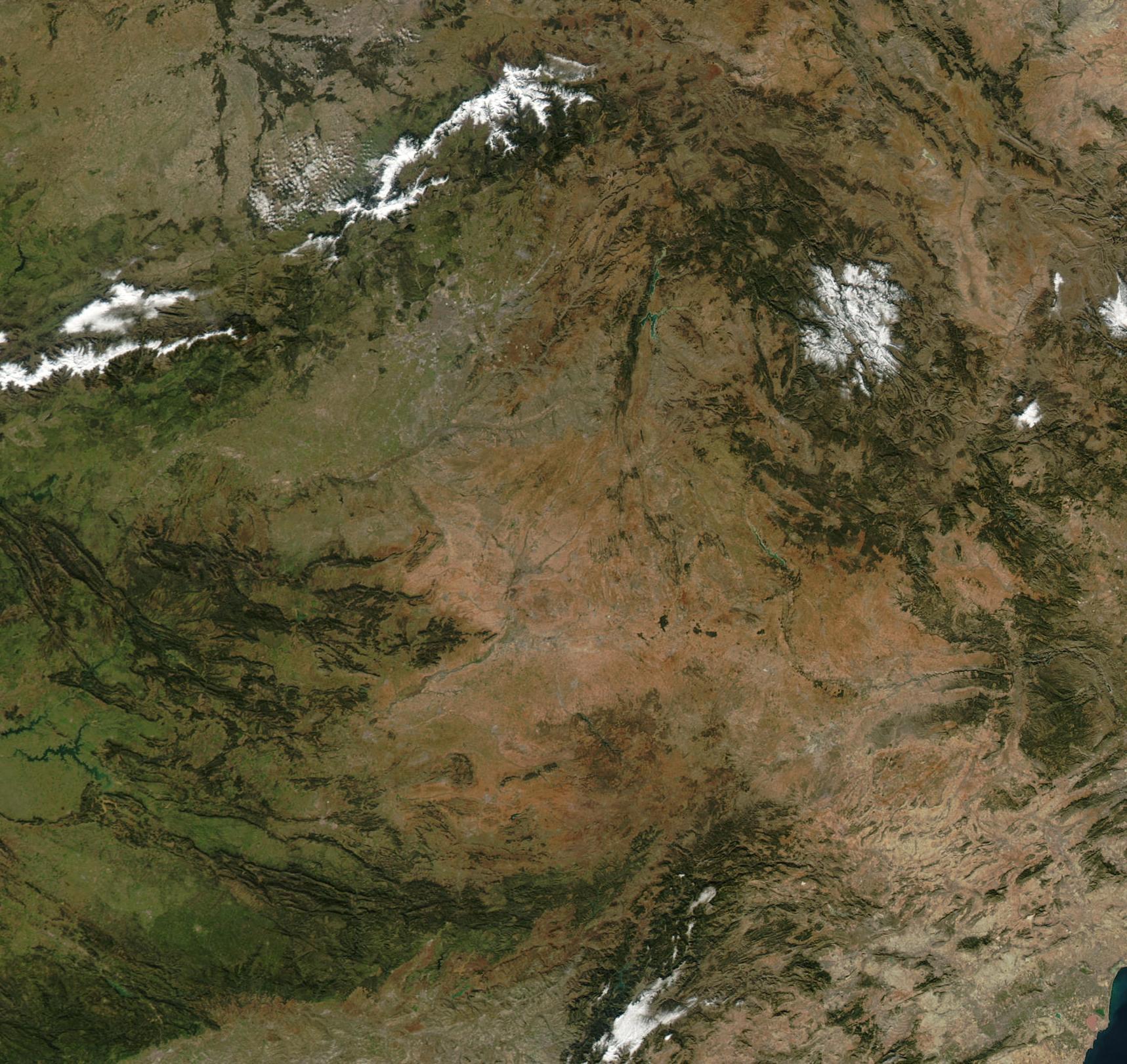 Castile-La Mancha Satellite Map