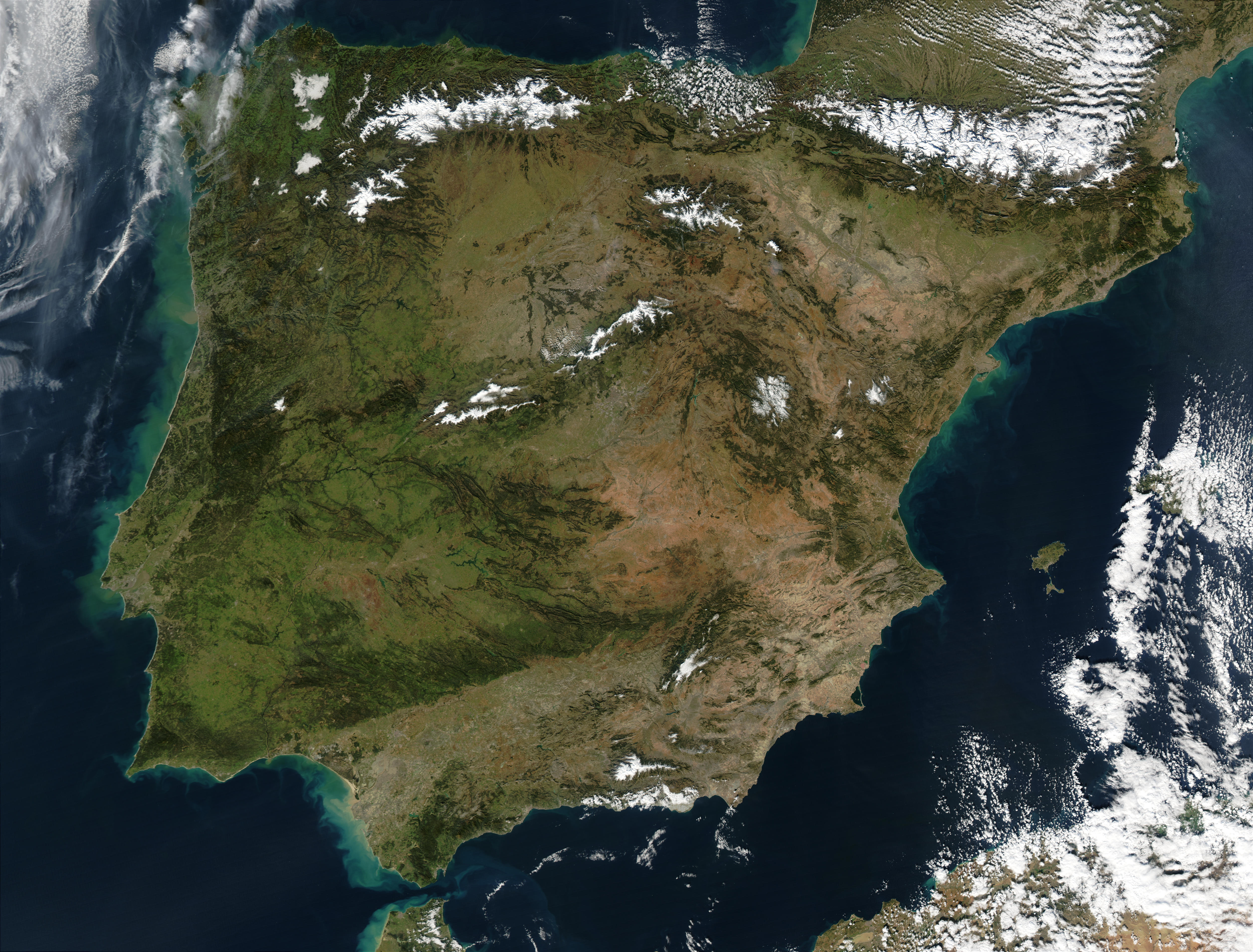 Mapa Satelital De España.Mapa Satelital De Espana Mapa Owje Com