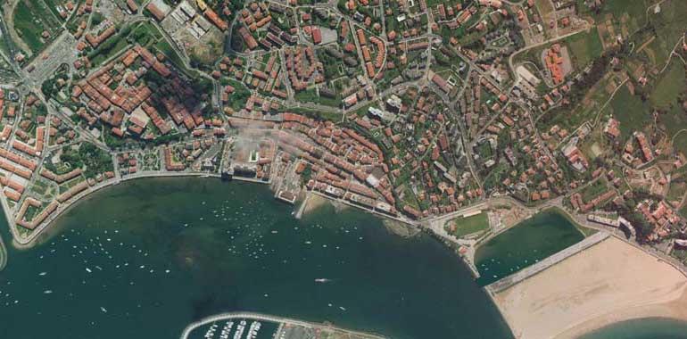 Mapa Satelital de Hondarribia o Fuenterrabía, España
