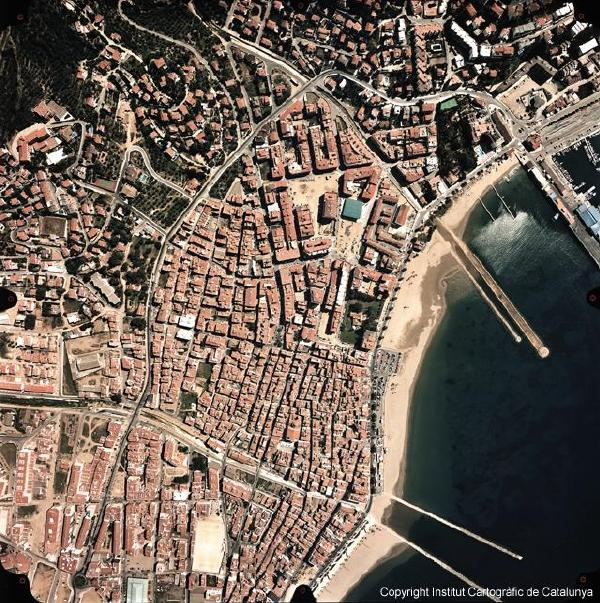 Mapa Satelital De España.Mapa Satelital De Rosas Espana Mapa Owje Com