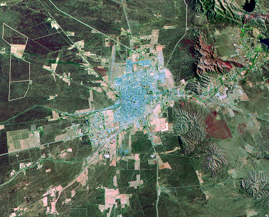 Satellite Image, Photo of San Luis City, Prov. San Luis, Argentina