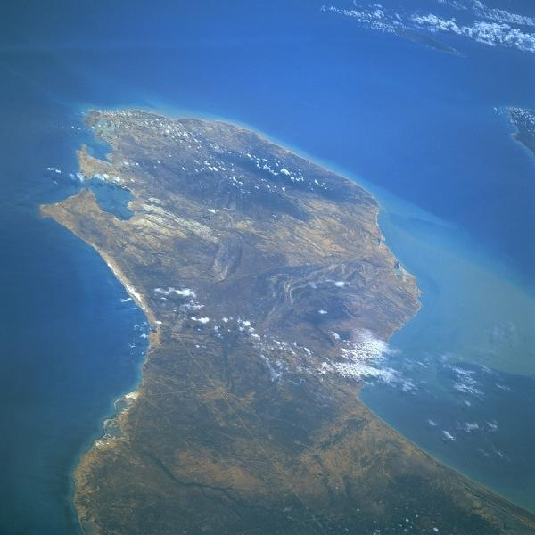 Mapa Satelital de la Península Guajira, Colombia
