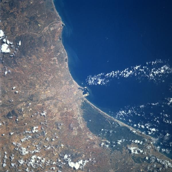 Satellite Image, Photo of Region of Valencia City, Spain