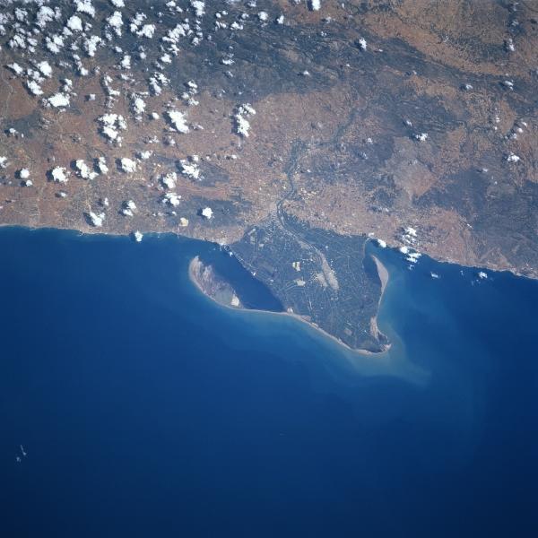 Satellite Image, Photo, Ebro River Delta, Spain