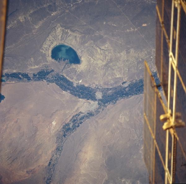 Mapa Satelital del Lago Pellegrini, Rio Negro, Argentina