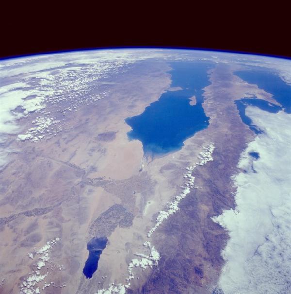 Mapa Satelital del Noroeste de Mexico y California del Sur, U.S.A.
