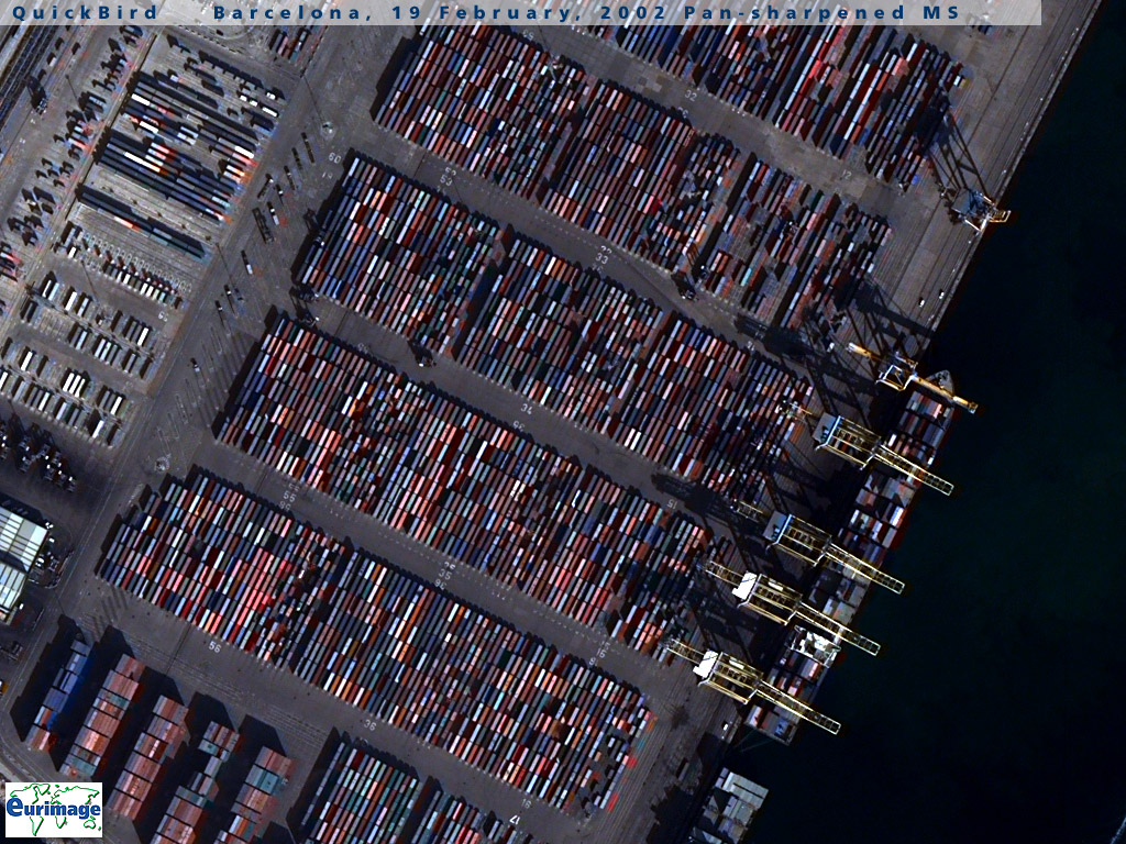 Mapa Satelital del Puerto de Barcelona, España