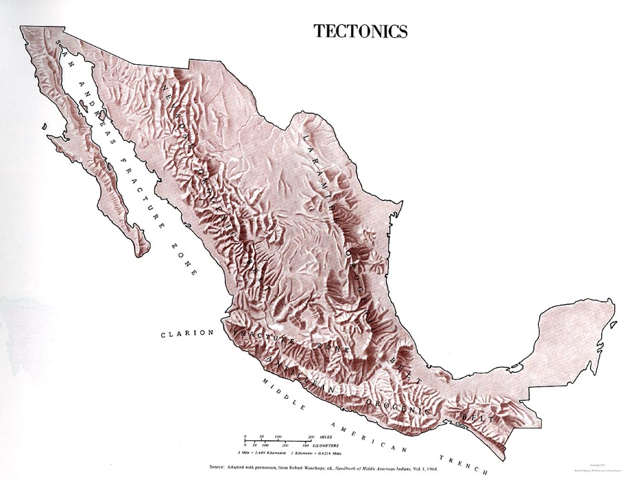 Mexico Tectonics Map