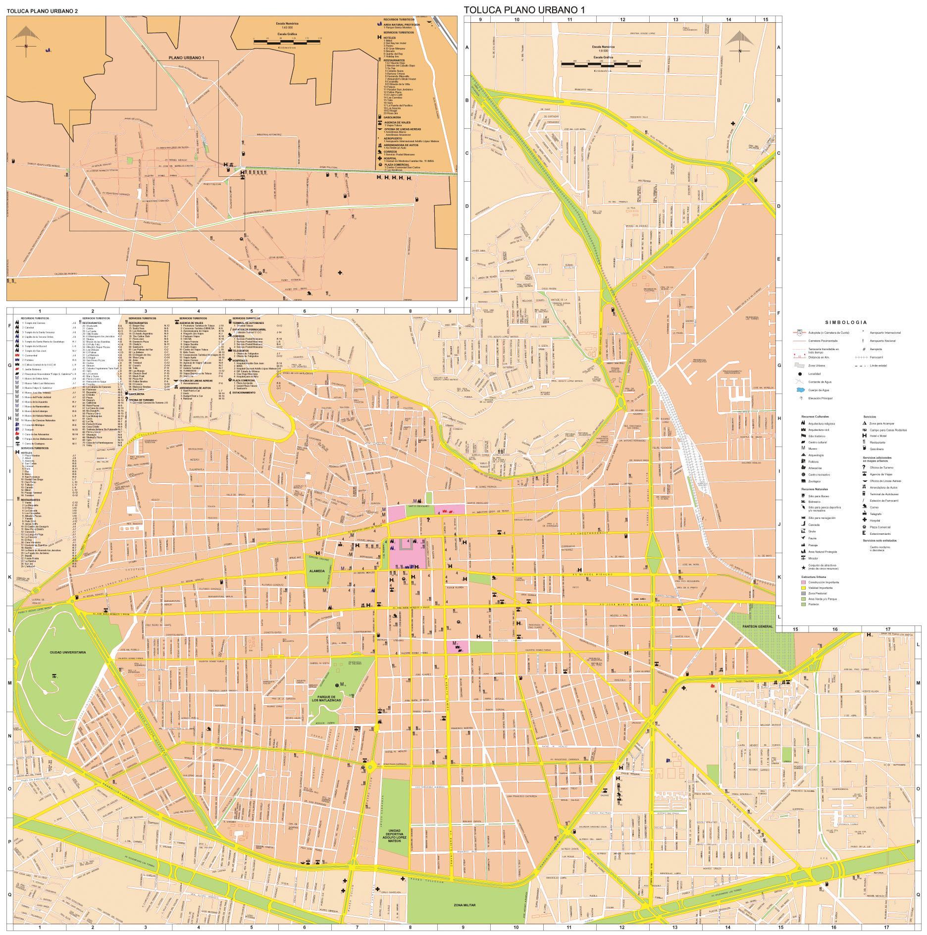 Mapa Toluca, Edo Mexico