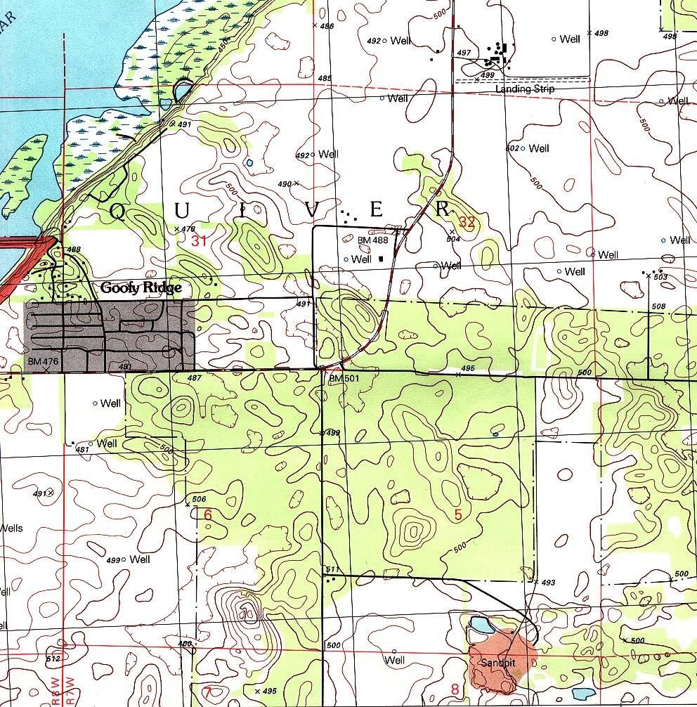 Mapa Topográfico de la Ciudad de Goofy Ridge, Illinois, Estados Unidos