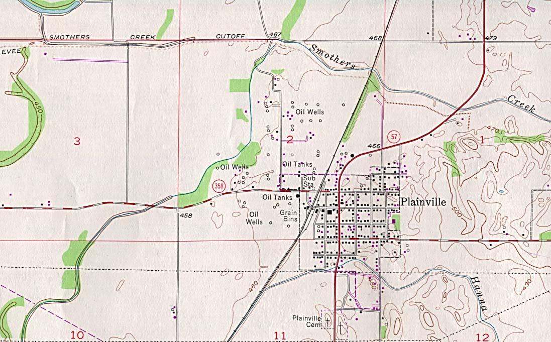 Mapa Topográfico de la Ciudad de Plainville, Indiana, Estados Unidos