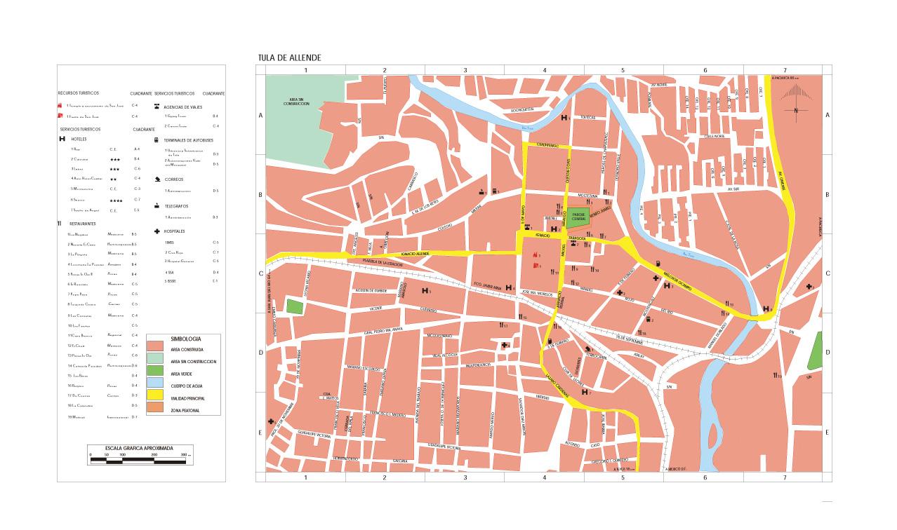 Mapa Tula de Allende, Hidalgo, Mexico