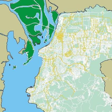 Porto Alegre City Street Map, Brazil