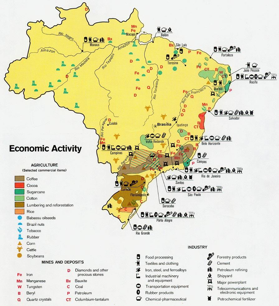 Mapa de Actividad Económica de Brasil