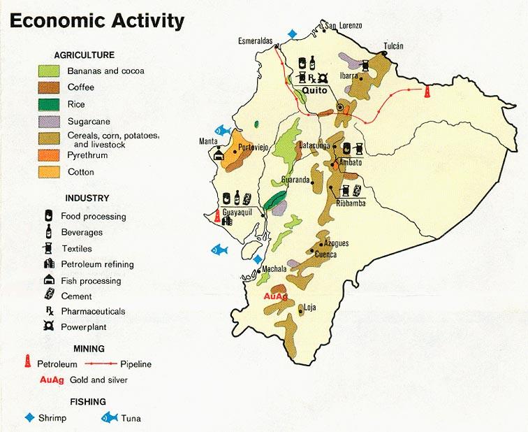 Mapa de Actividad Económica de Ecuador