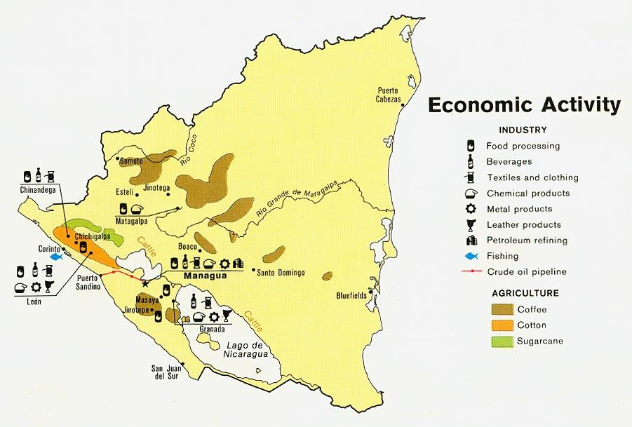 Mapa de Actividad Económica de Nicaragua