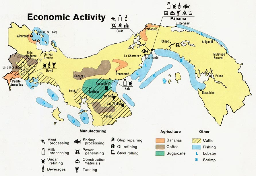 Panama Economic Activity Map