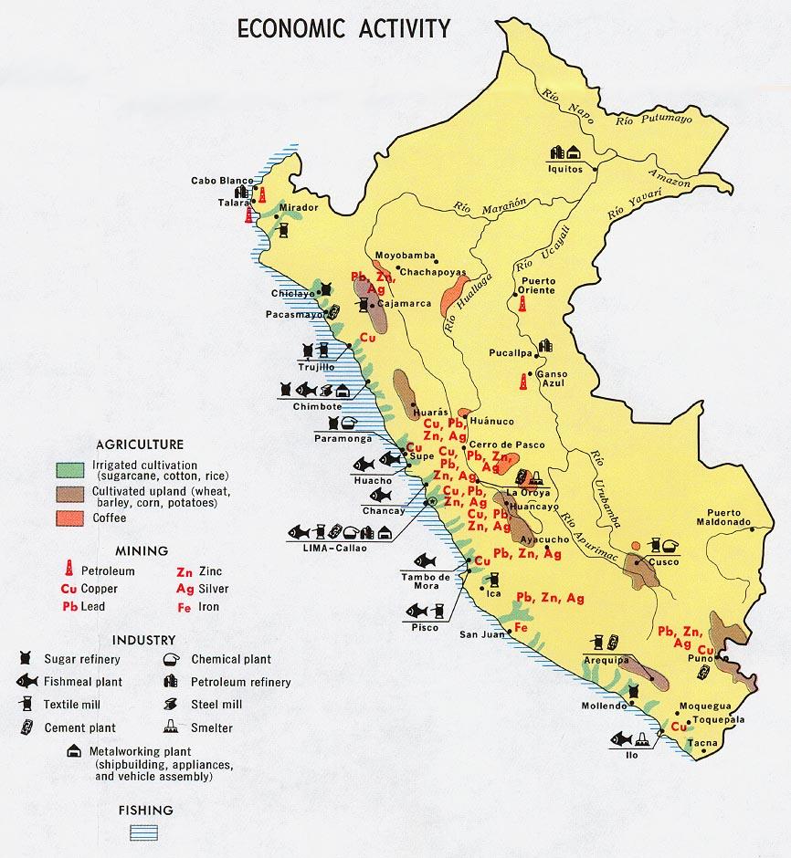 Mapa de Actividad Económica de Perú