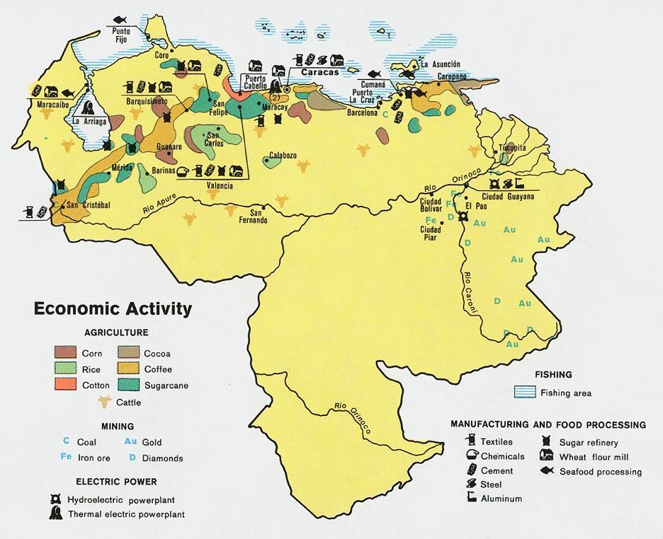 Venezuela Economic Activity Map