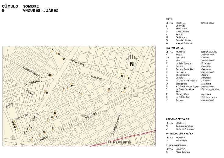 Mapa de Anzures-Juárez, Mexico D.F.