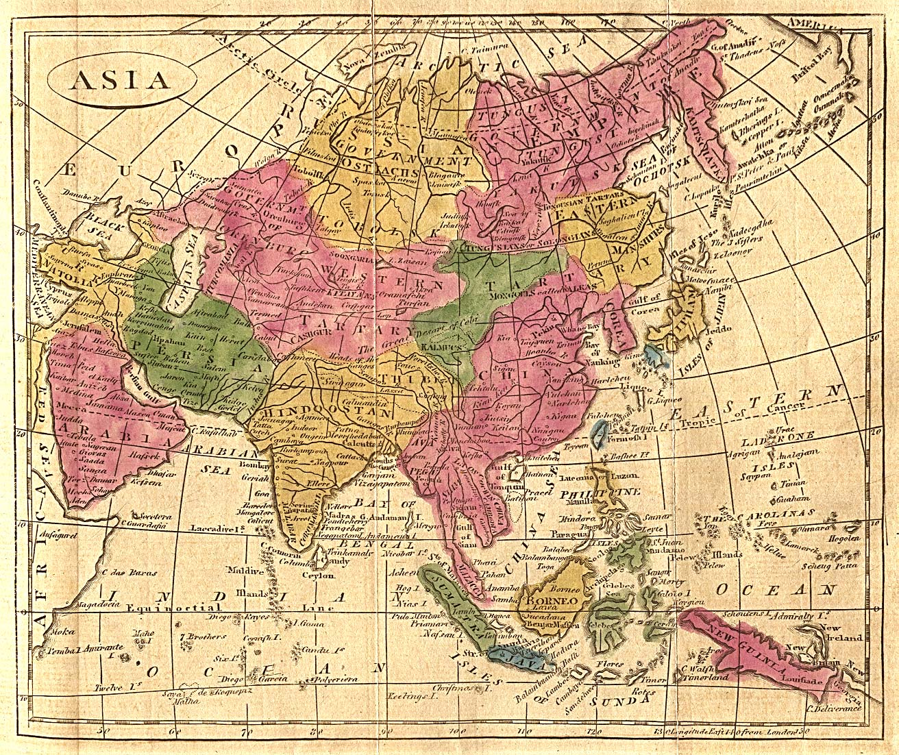 Asia Map 1808