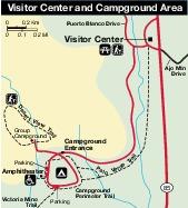 Campsite Map of Organ Pipe Cactus National Monument, Arizona, United States