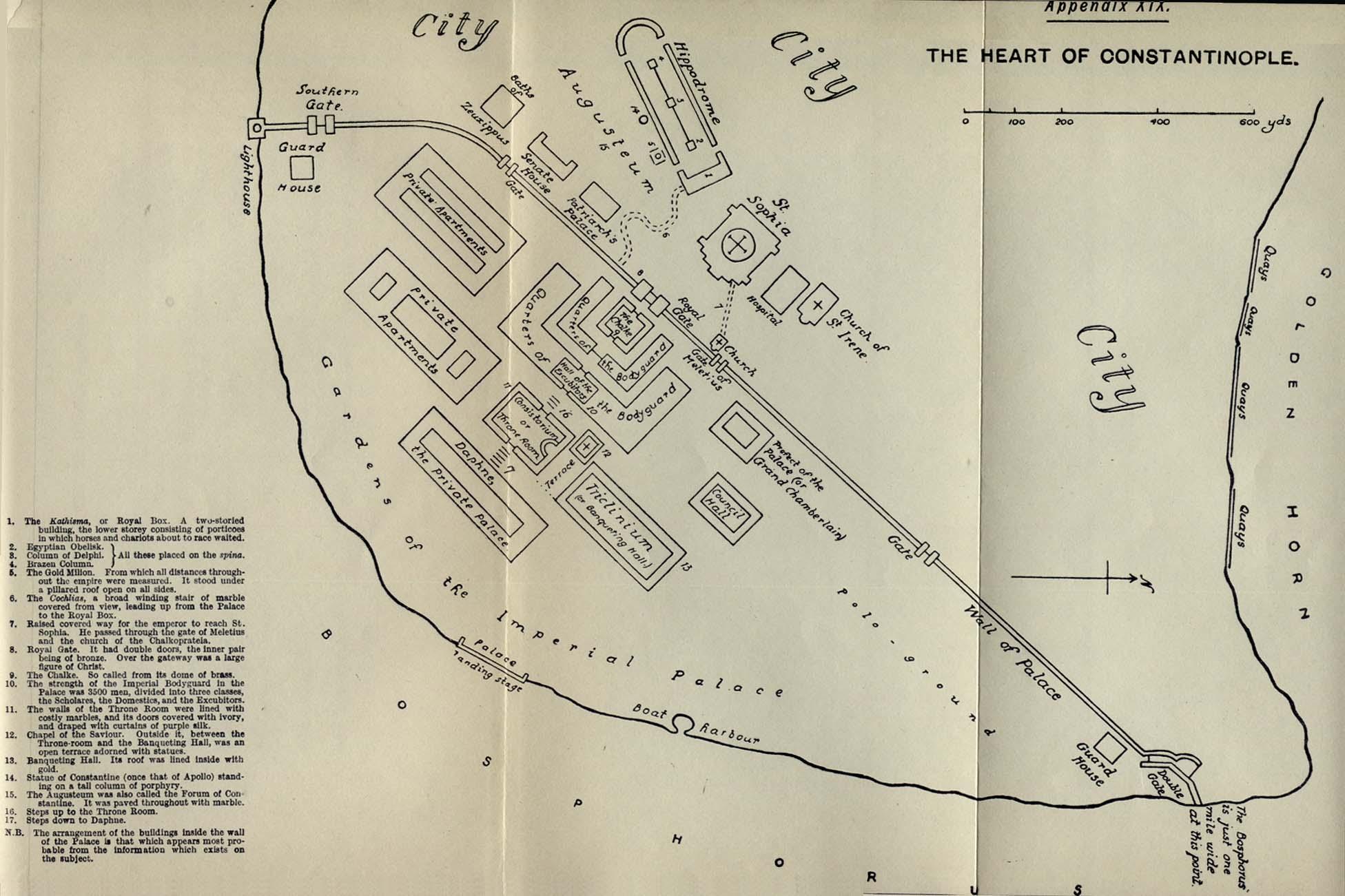 Mapa de Constantinopla (Estambul) 1916