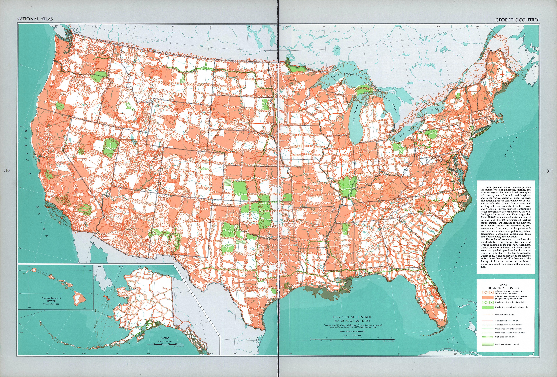 Mapa de Control Geodésico Horizontal, Estados Unidos