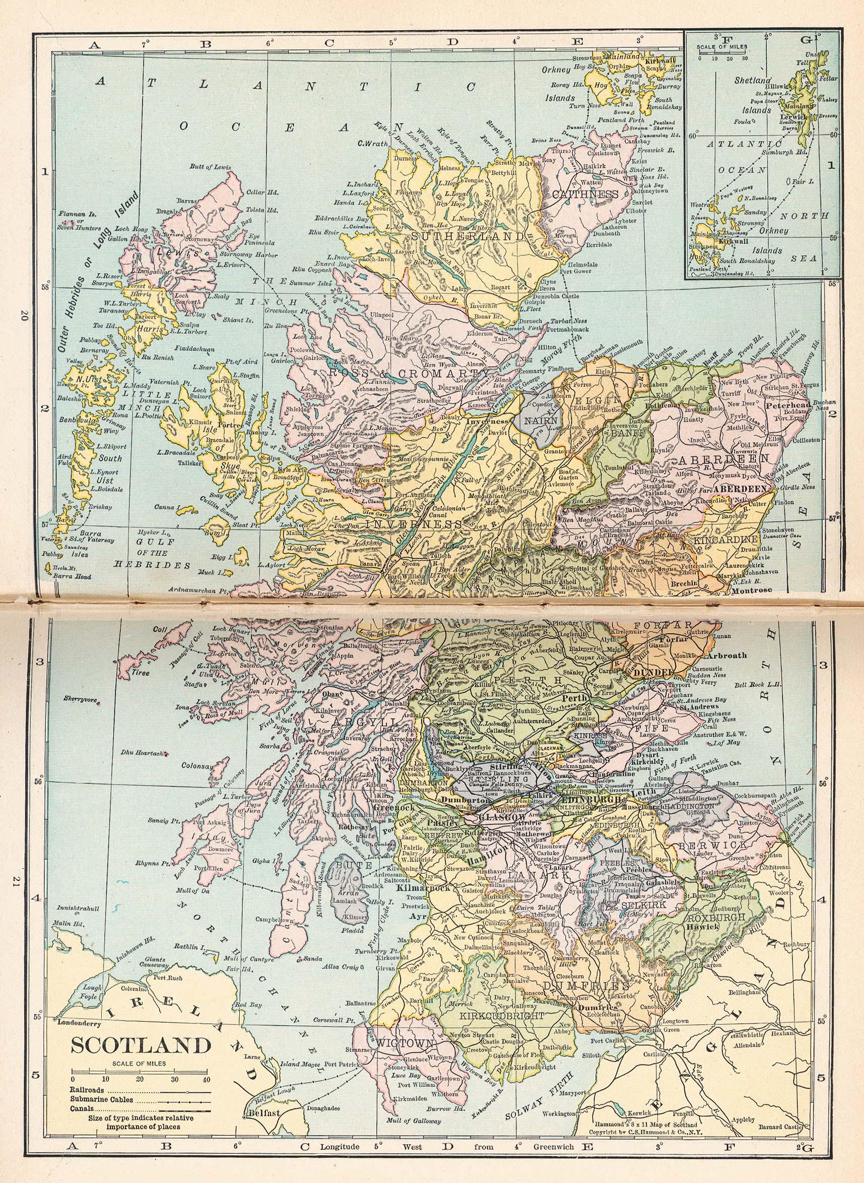 Scotland Map 1921