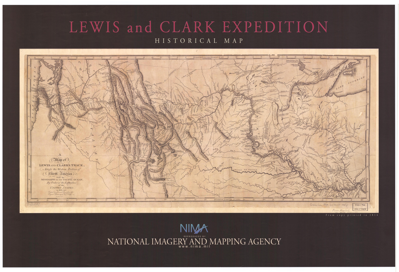 Mapa de Expedición de Lewis y Clark 1804 - 1806