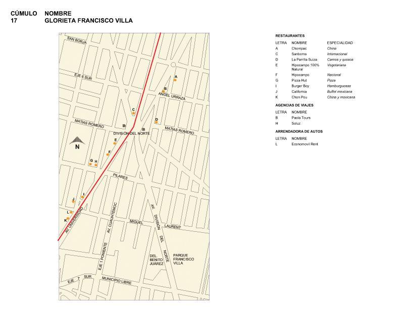 Mapa de Glorieta Francisco Villa, Mexico D.F.