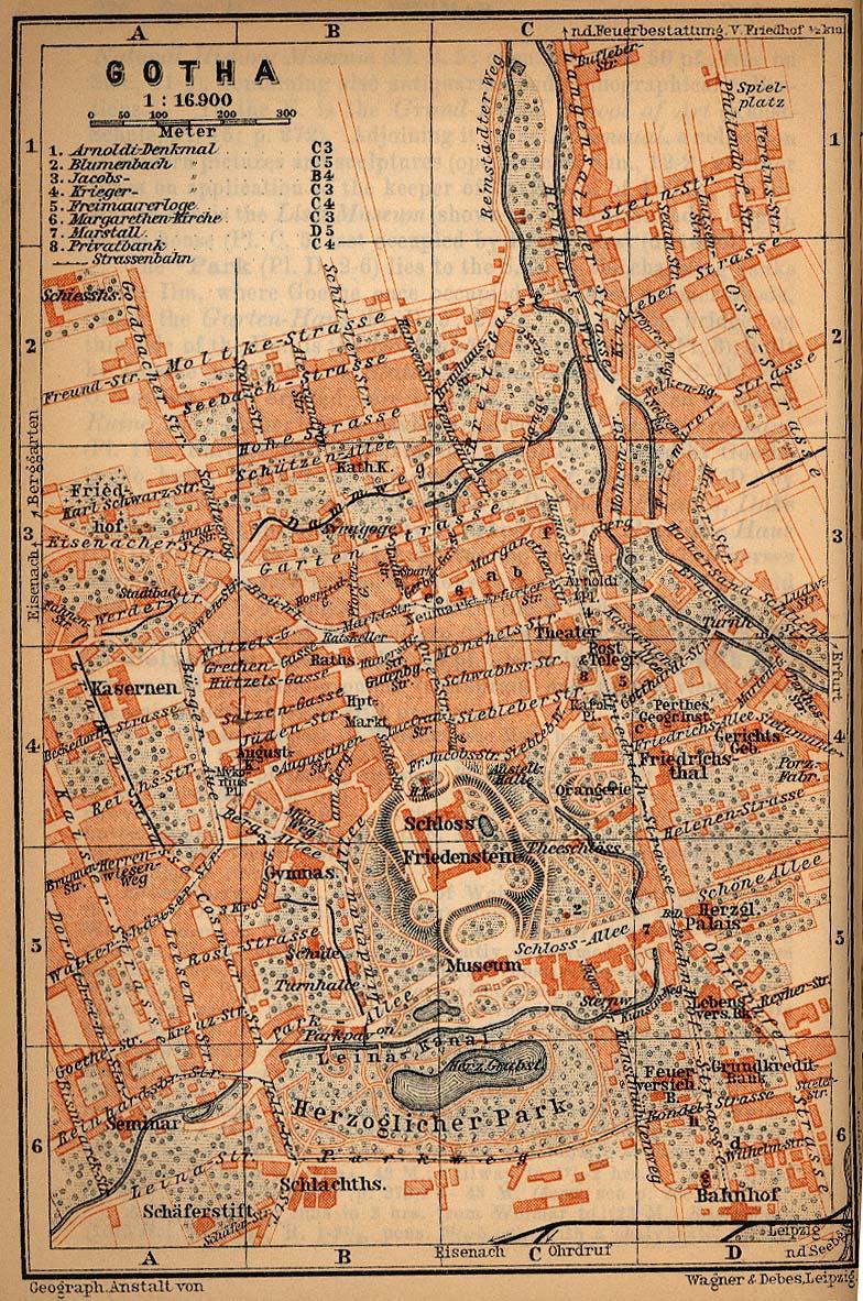Gotha Map, Germany 1910
