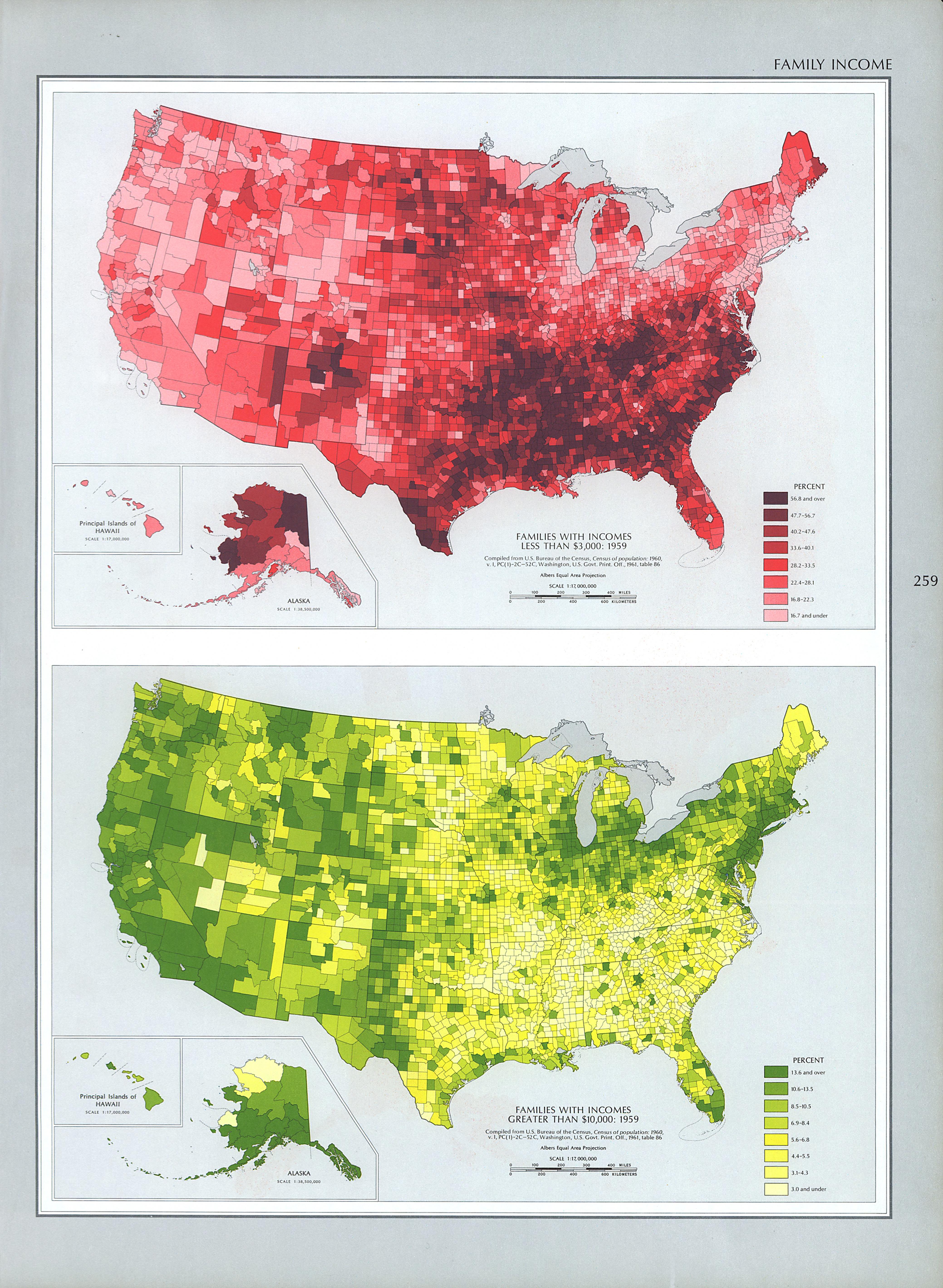 Mapa de Ingreso Familiar en Estados Unidos