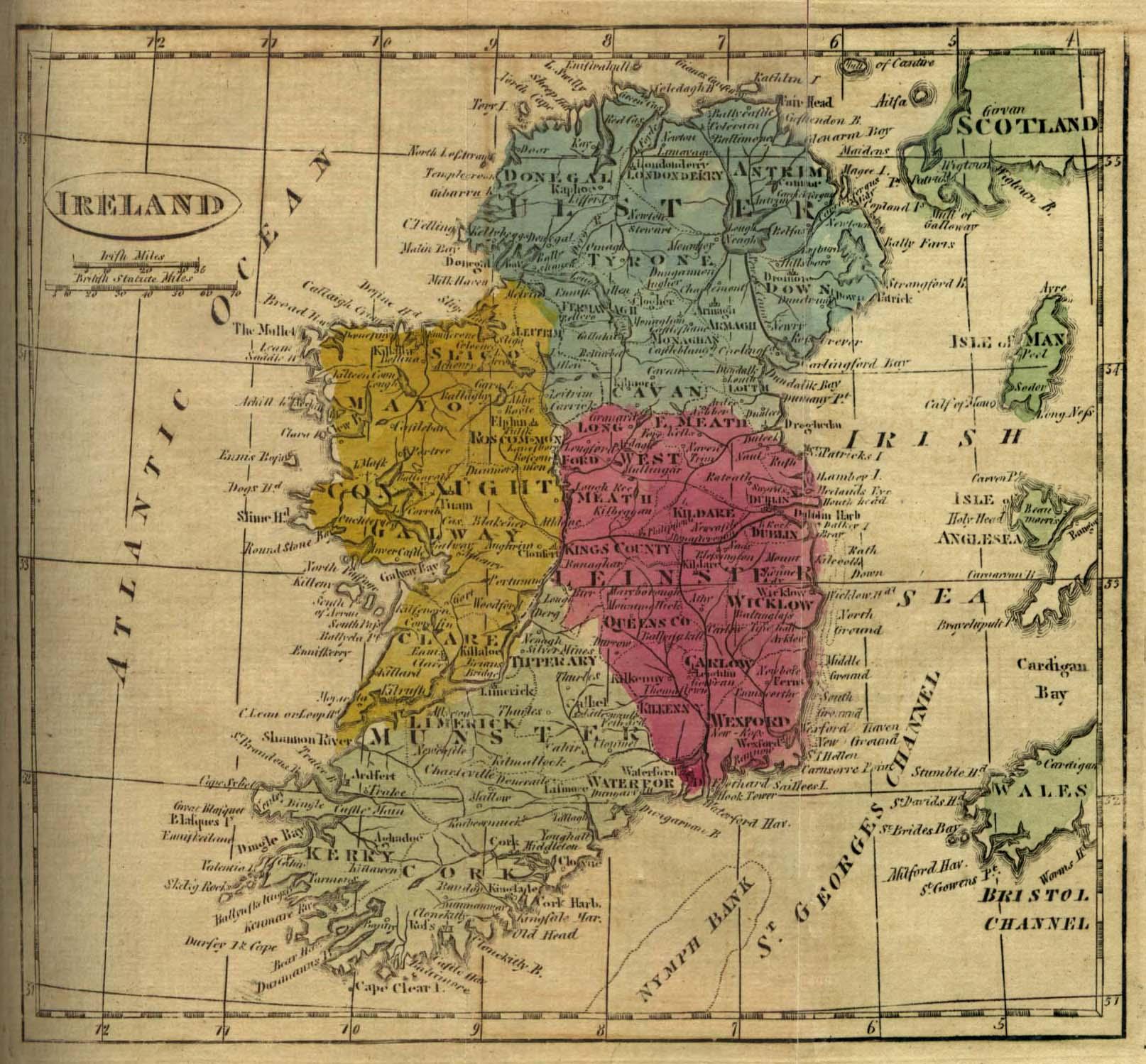 Mapa de Irlanda 1808