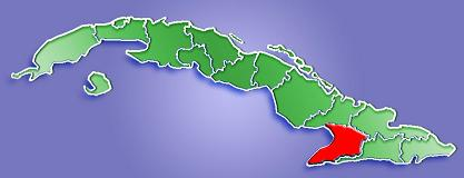 Mapa de Localización Provincia de Granma, Cuba