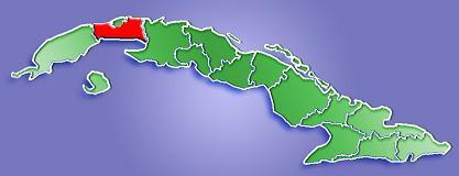 La Habana Province Map, Cuba