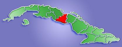Mapa de Localización Provincia de Sancti Spíritus, Cuba