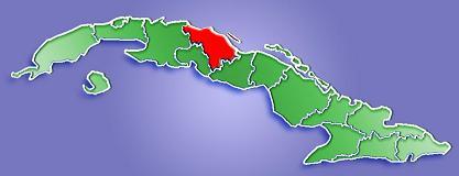 Villa Clara Province Map, Cuba