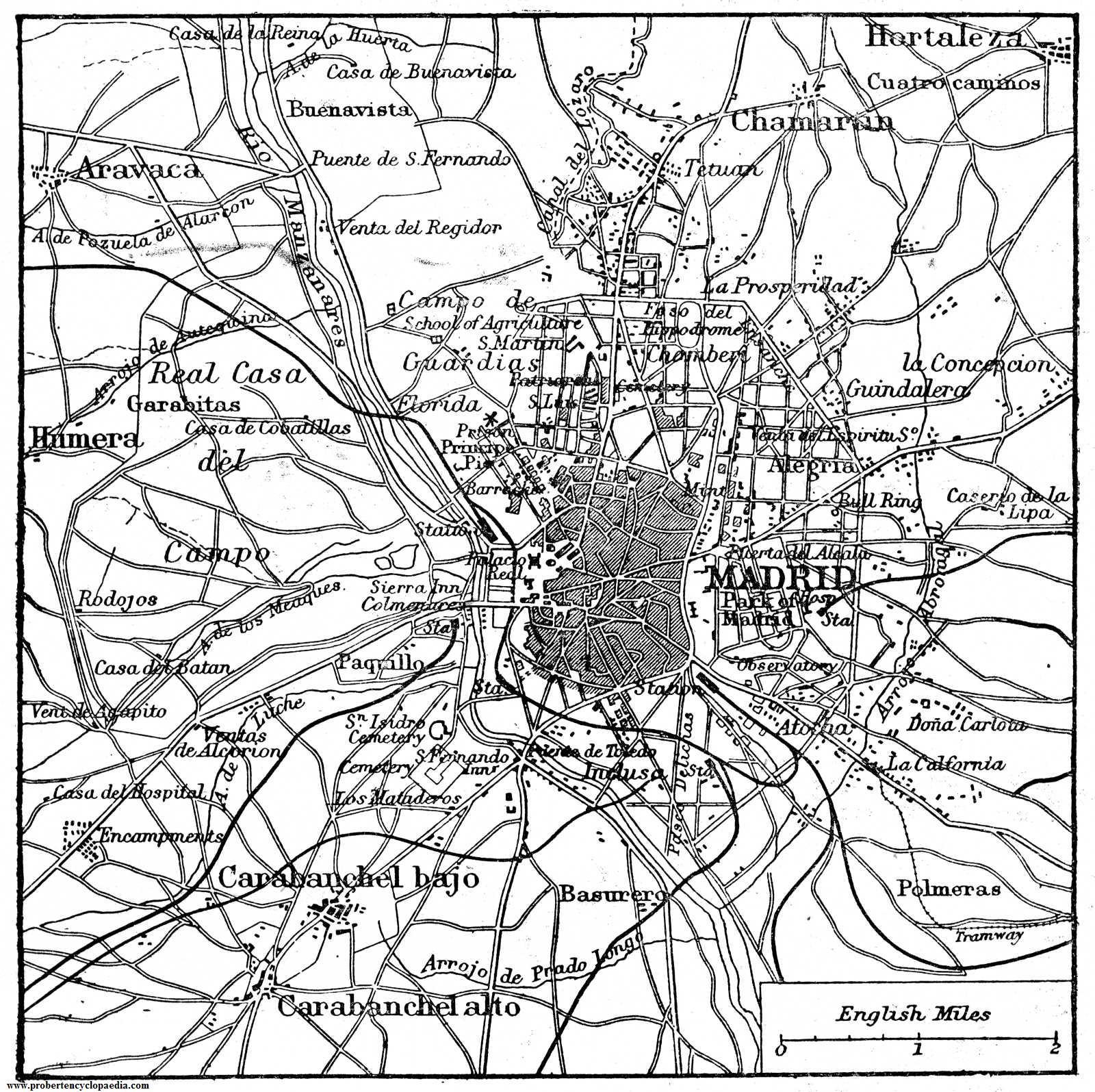 Mapa de Madrid 1906