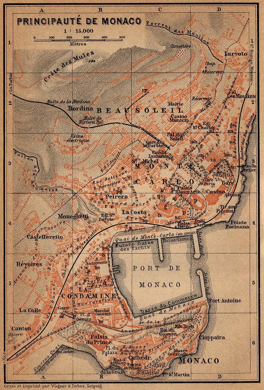 Mapa de Monaco 1914