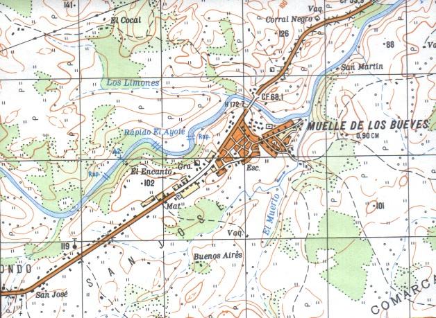 Muelle de los Bueyes Map, RAAS, Nicaragua