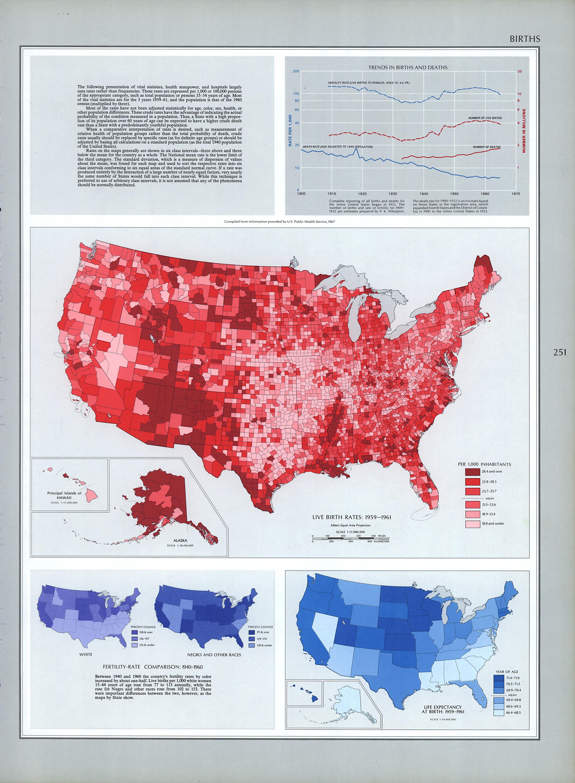 Mapa de Natalidad en Estados Unidos