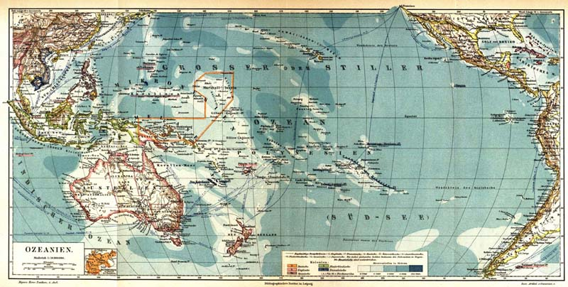 Map of Oceania 1884