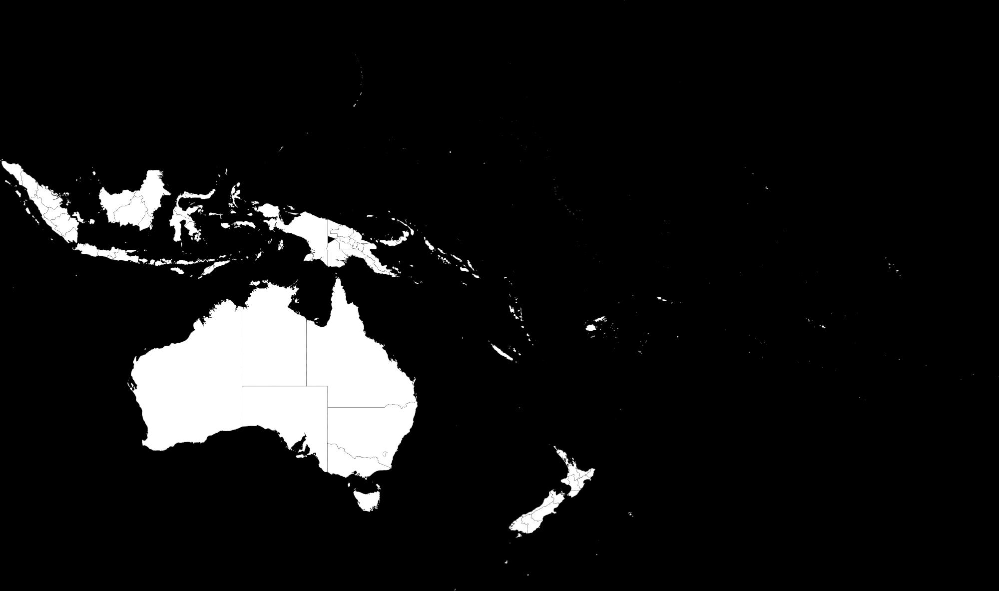Mapa de Oceanía de 1998