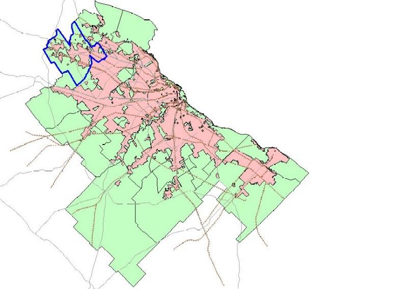 Mapa de Pilar en el Gran Buenos Aires, Argentina