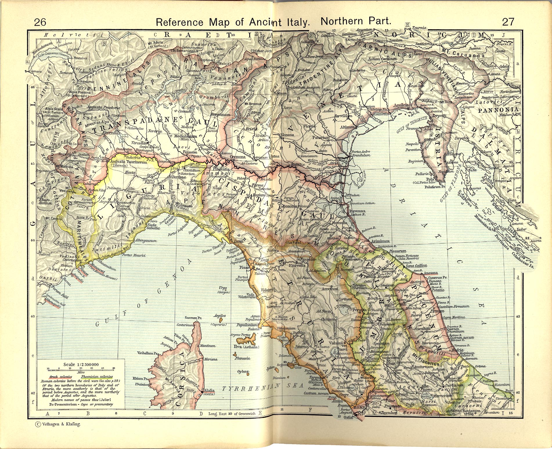 Reference Map of Ancient Northern Italy