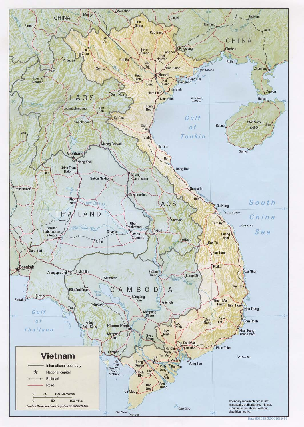 Mapa de Relieve Sombreado de Vietnam