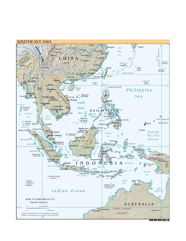 Mapa de Relieve Sombreado del Sureste Asiático