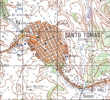 Mapa de Santo Tomas, Chontales, Nicaragua